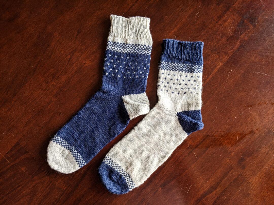 pletené ponožky Štěpánka Drchalová